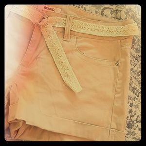 Blush pink bongo shorts
